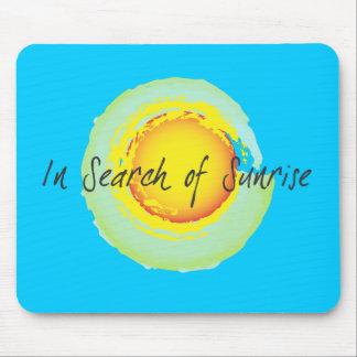 In Search Of Sunrise Sun Mousepad Bright Blue