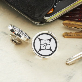 In Shippo flower angle Lapel Pin