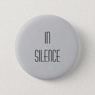 In Silence--Grey Modern 2 Inch Round Button