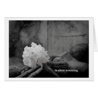 in silent mourning card