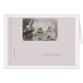 in silent mourning greeting card