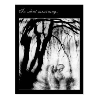 In silent mourning... postcard