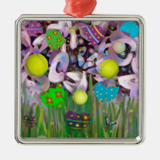 In Spring everything changes. Metal Ornament