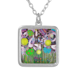 In Spring everything changes. Silver Plated Necklace