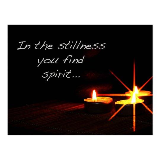 In stillness you find spirit postcard