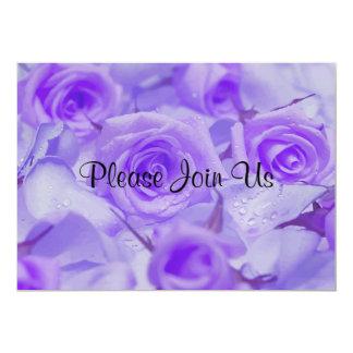 "In Sympathy Lavender Roses 5"" X 7"" Invitation Card"
