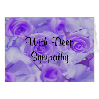In Sympathy Lavender Roses Greeting Card