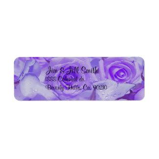 In Sympathy Lavender Roses Return Address Label