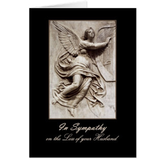 In Sympathy - Loss of Husband - Angel with Harp Card