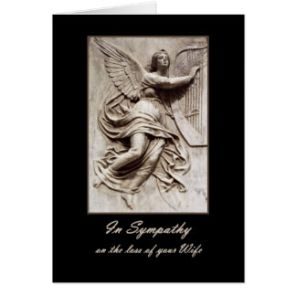 In Sympathy - Loss of Wife - Angel with Harp Card