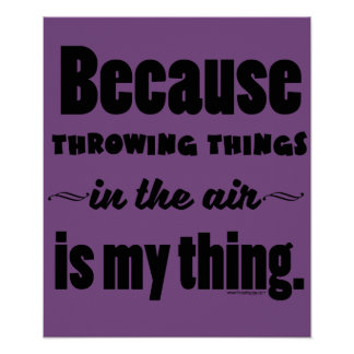 In the Air- Shot Put Discus Javelin Hammer Gift Poster