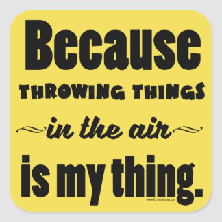In the Air- Shot Put Discus Javelin Hammer Gift Square Sticker