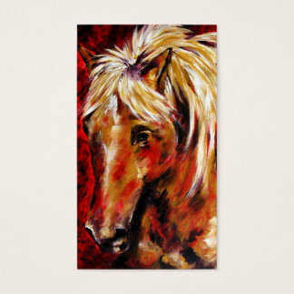In The August Wind (Palomino Horse) Business Cards