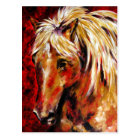 In The August Wind (Palomino Horse) Postcards