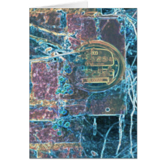 In the Back Alley, Digital Art Greeting Card