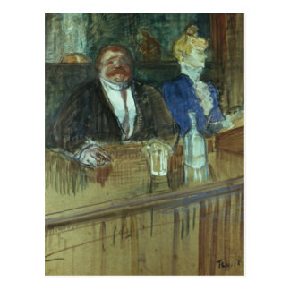 In the Bar: The Fat Proprietor Postcard