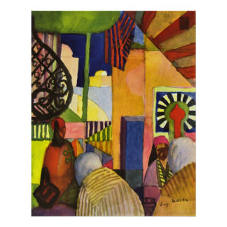 In the bazaar by August Macke Poster