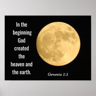 In the beginning --- Art print -Genesis 1