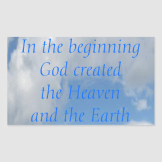 In The Beginning God Created .... Cloud