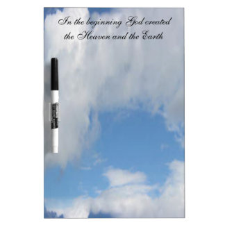In The Beginning God Created .... Cloud Dry Erase Boards