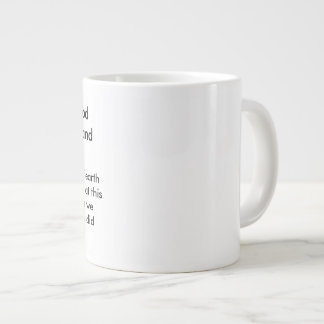 In the beginning God created Large Coffee Mug