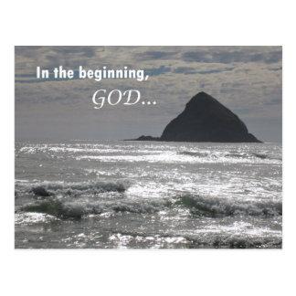 In the beginning, God Postcard