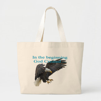 In the Beginning Large Tote Bag