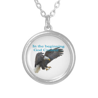 In the Beginning Silver Plated Necklace