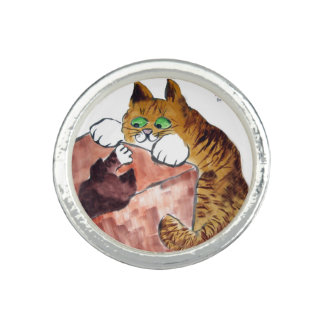 In the Box - Cat and Kitten Play Photo Rings
