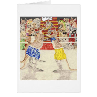 In The Boxing Ring Greeting Card