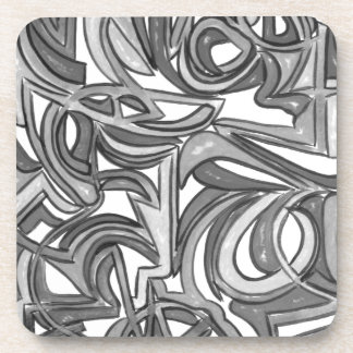 In The Bush-Hand Painted Abstract Art Coaster