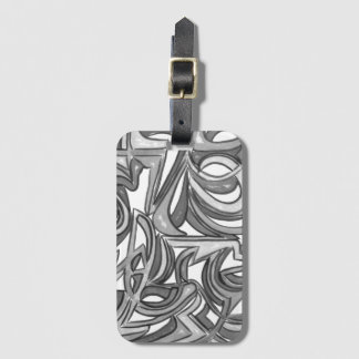 In The Bush-Hand Painted Abstract Art Luggage Tag