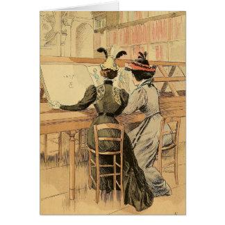 In the Cabinet des Estampes Card