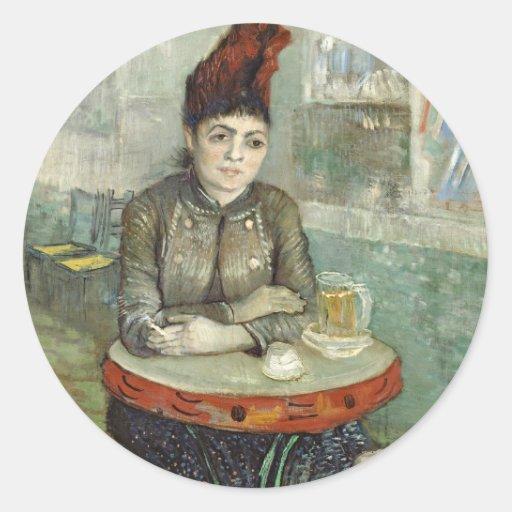 In the café: Agostina Segatori in Le tambourin Stickers