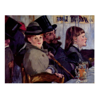 In the cafe: From cabaret Reichshoffen - Manet Postcard