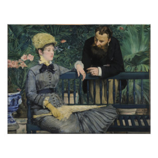In the Conservatory by Edouard Manet Photograph