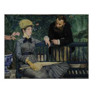 In the Conservatory by Edouard Manet Print