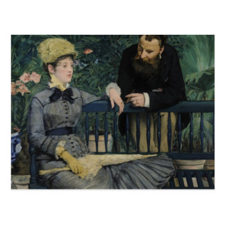 In the Conservatory - Édouard Manet (1879) Postcard