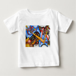 In The Cosmos-Hand Painted Abstract Geometric Baby T-Shirt