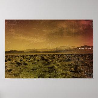 In the desert poster