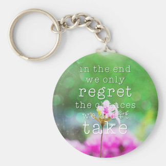 In the end... basic round button keychain