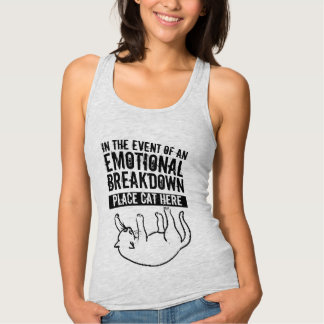 In the event of Emotional Breakdown Cat top