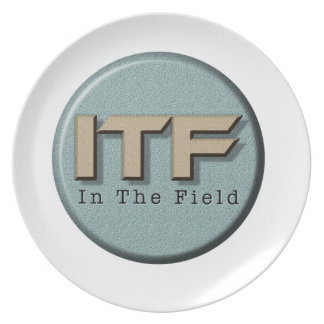In The Field logo Party Plate