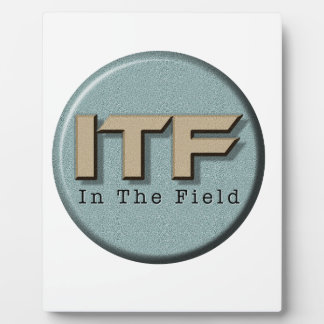 In The Field logo Plaque
