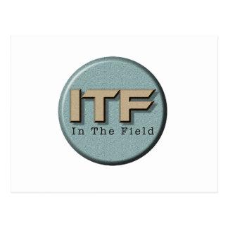In The Field logo Postcard