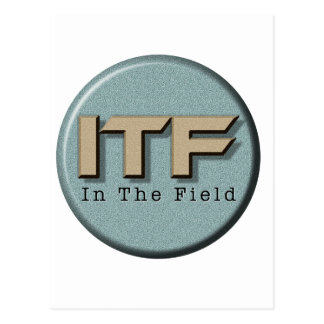 In The Field logo Postcard