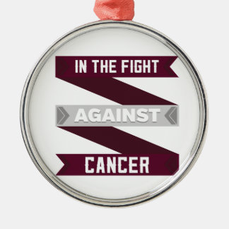In The Fight Against Head and Neck Cancer Silver-Colored Round Ornament