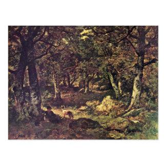 In The Forest By Diaz De La Peña Virgile-Narcisse Postcard