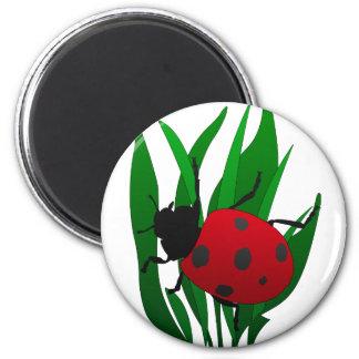 In the garden 2 inch round magnet