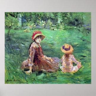In the garden at Maurecourt by Berthe Morisot Poster